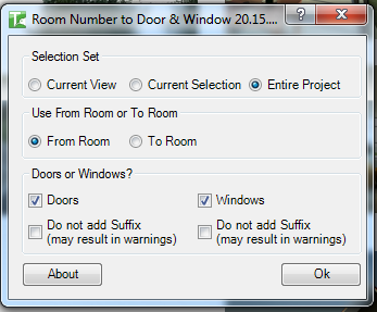 41 Room Number to Doors and Windows